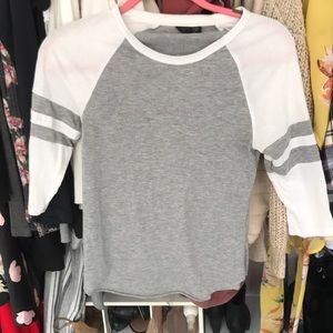 top shop baseball tee